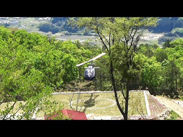 「天空のカフェ」にヘリポート完成 目当ては遊覧客