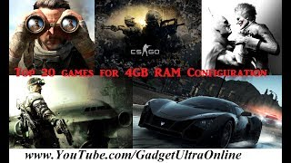 Top 20 Games to Play on 4GB RAM PC | Laptop