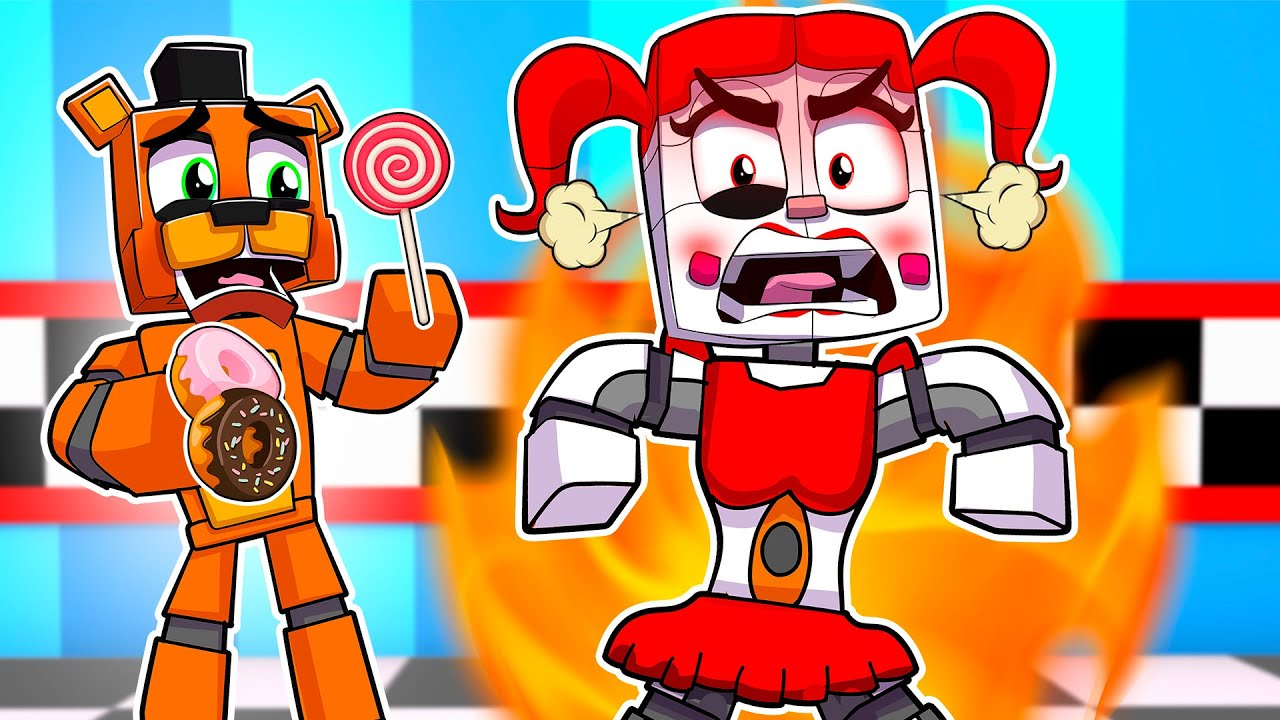 Download Circus Baby Destroys Freddy's PIZZERIA | Minecraft Five Nights at Freddy FNAF Roleplay