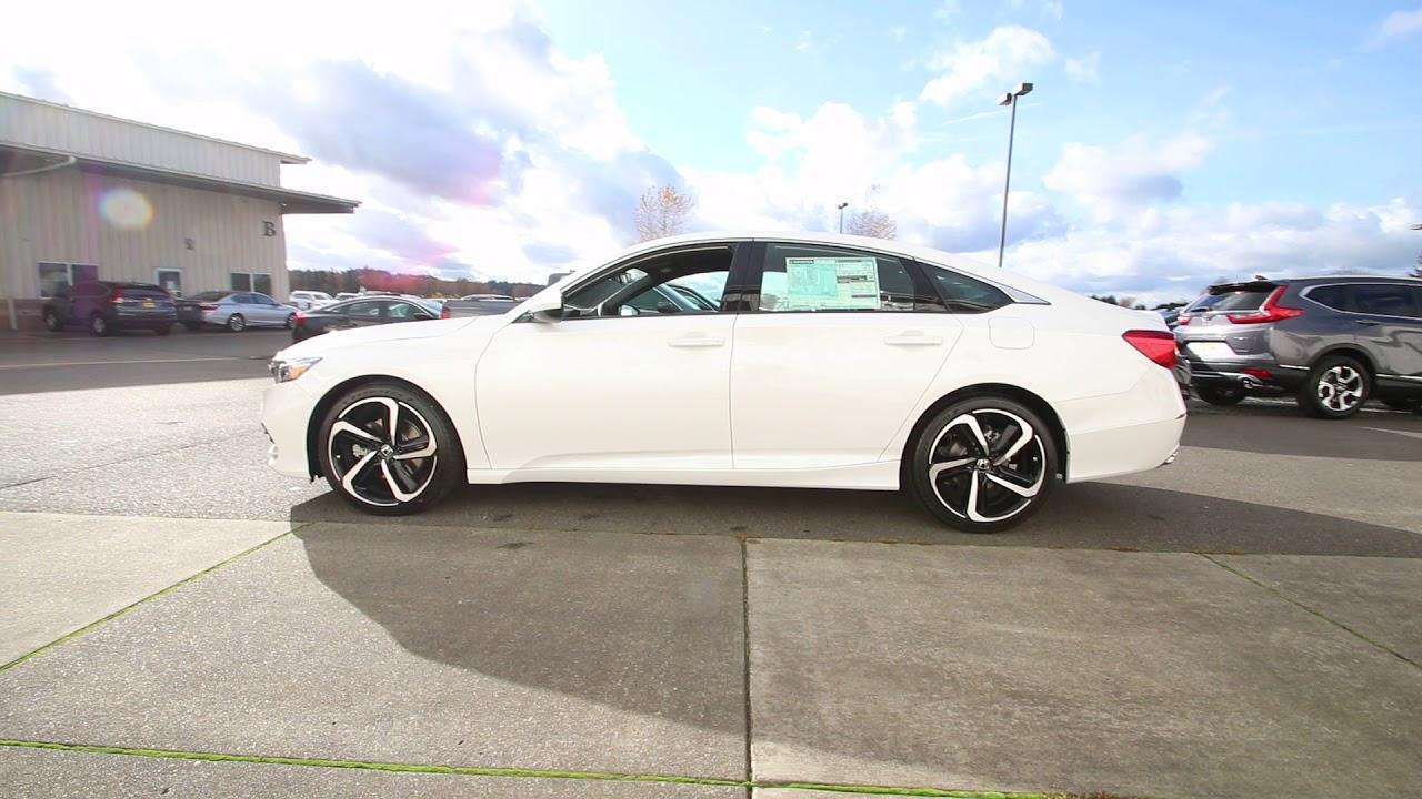 Great 2018 Honda Accord Sport | Platinum White Pearl | JA028610 | Seattle |  Sumner |