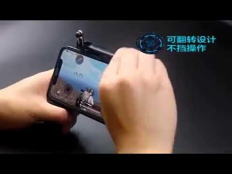W10 Gamepad mobile game controller ด้ามจับ PUBG Mobile Joystick ใช้กับจอขนาด 5.0-6.5 นิ้ว