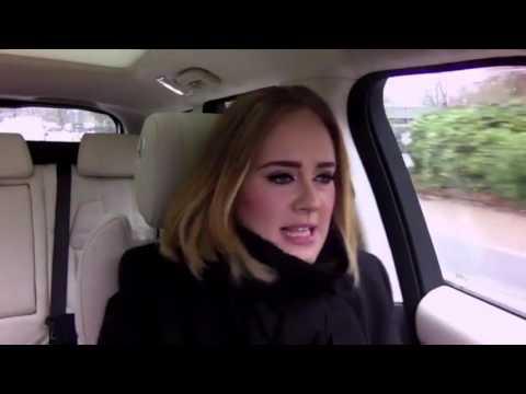 Adele Carpool Karaoke - Rapping with Corden - Spice Girls, Niki Manaj