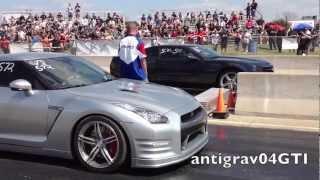 TX2K13 - GTR vs Camaro and CTS-V vs Mustang
