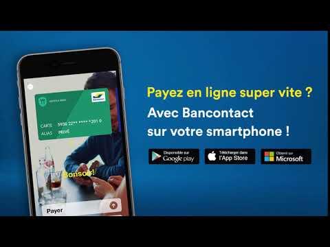 Payer en ligne super vite? Avec Bancontact sur votre smartphone!