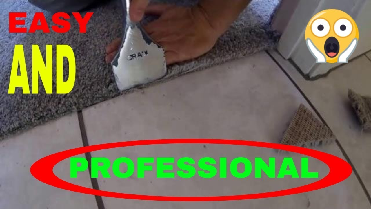 How To Transition Carpet To Tile Youtube