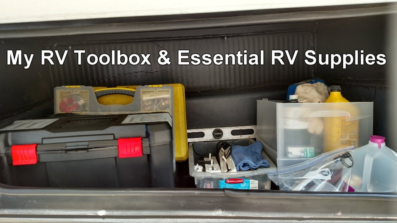 My RV Toolbox & Essential RV Supplies