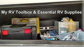 My RV Toolbox & Essential RV Supplies