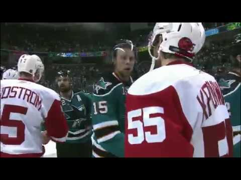 NHL: Sharks - Red Wings Handshake 2010 Stanley Cup Playoffs Western Conference Semifinals