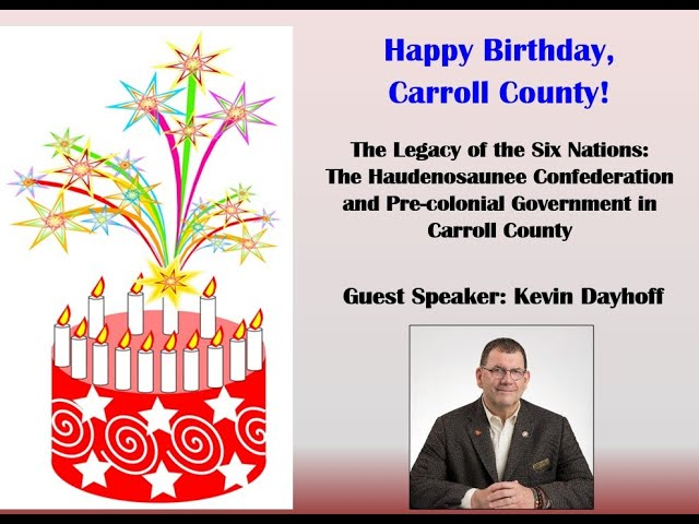 Carroll County 2021 Birthday Celebration-The legacy of the