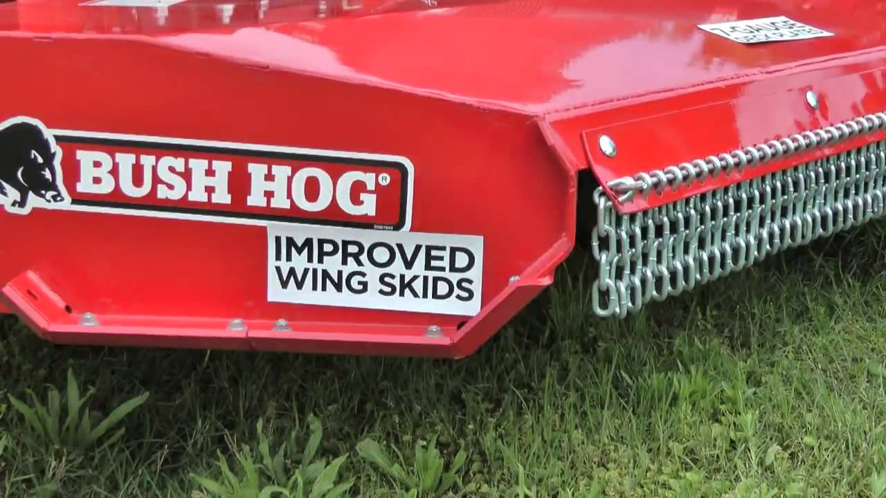 Bush Hog 2815 Flex Wing Rotary Cutter Youtube