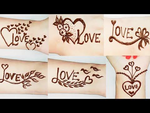 Love ❤ Tatto Mehndi Design || Tattoo Heena Mehndi Design || Dollyarts ||