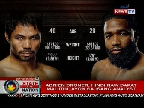 Manny Pacquiao, lamang kay Adrien Broner, ayon sa mga boxing analyst