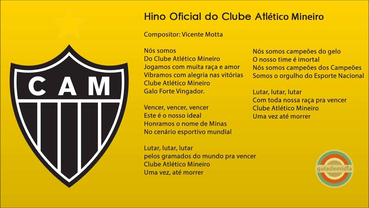 Hino Do Clube Atl U00e9tico Mineiro CAM Oficial YouTube