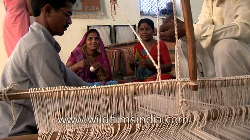 Handloom Weaving In Uttar Pradesh India Youtube