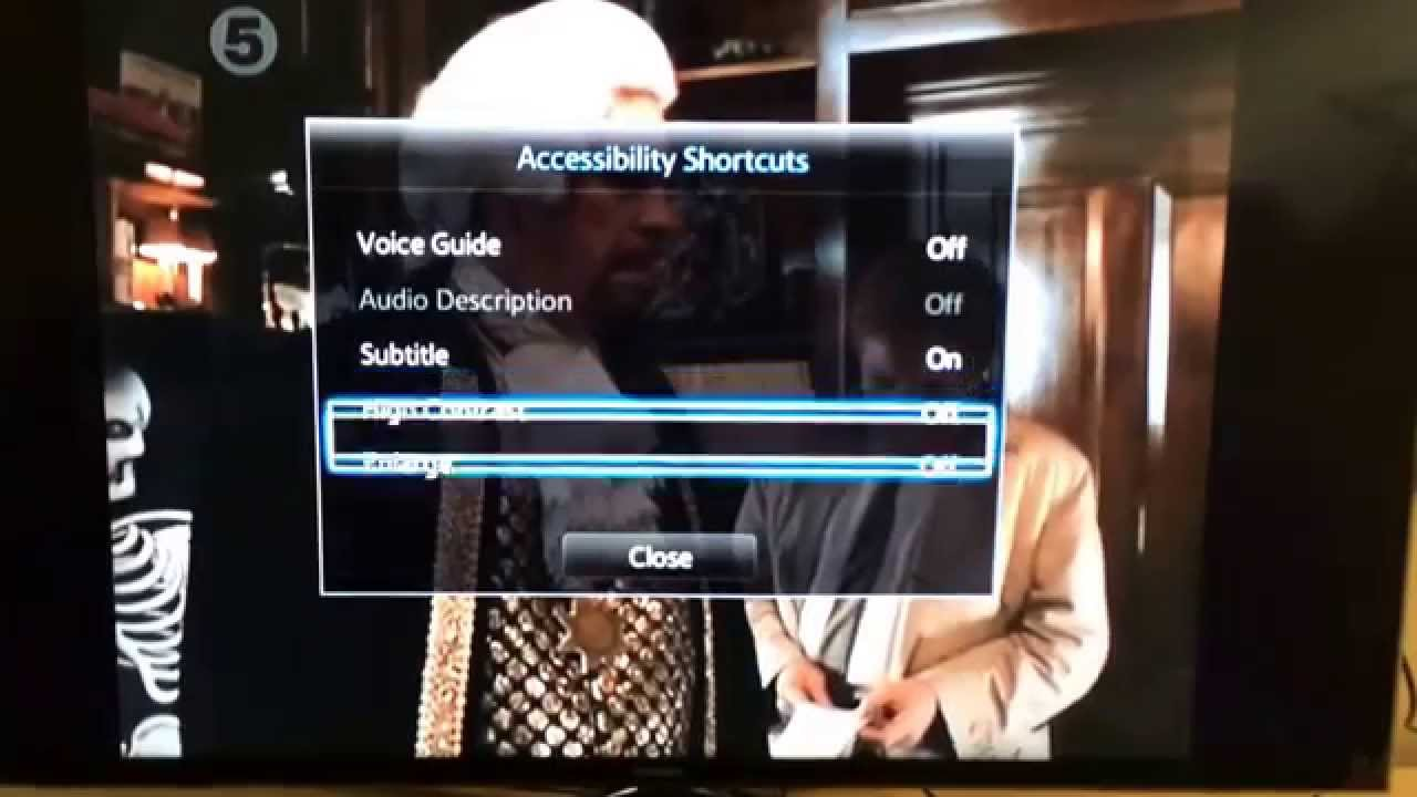Samsung H6400 Enable Subtitles Issue