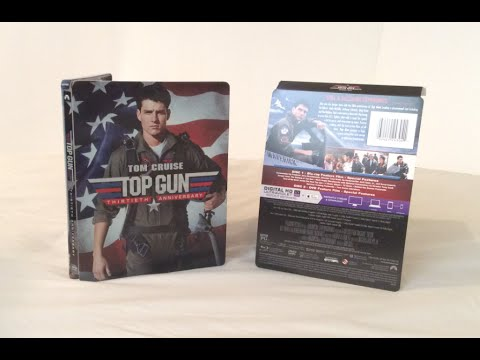 Top Gun: 30th Anniversary Steelbook - Blu Ray Unboxing and Review