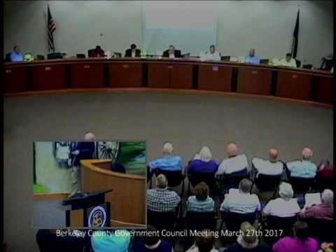 Berkeley County Council Meeting - March 27, 2017