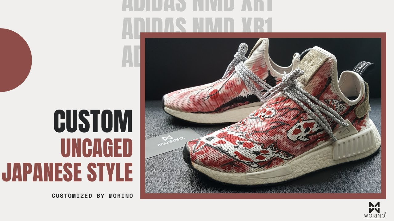 2b5f91ee04a62  Customs  Adidas NMD XR1 Uncage Customs Japanese Style by  COF  morino