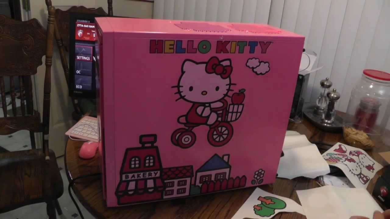 hello kitty computer build youtube. Black Bedroom Furniture Sets. Home Design Ideas