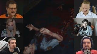 'Реакции Летсплейщиков' на Растерзание Полицейского из Resident Evil 2 Remake