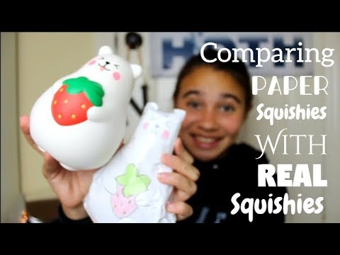 Comparing my Paper Squishies With My Real Squishies | Part 2