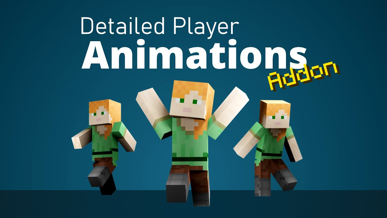 Detailed Player Animations Add On Minecraft Pe Mods Addons