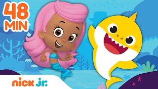 48 MINUTE Baby Shark Compilation w Blaze &amp Bubble Guppies!  Nick Jr.