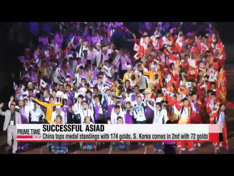 Incheon 2014 Asian Para Games come to a close; S. Korea nabs 2nd place in medals