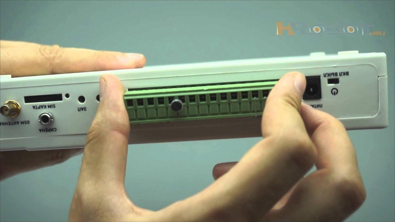 Видеообзор беспроводной охранно-пожарной GSM сигнализации Страж .