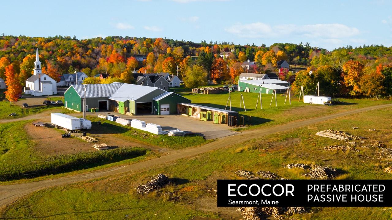 Ecocor - Prefabricated Passive House in Searsmont, Maine