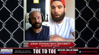 Frank Trigg pre-fight interview with UFC Orlando headliner Jeremy Stephens