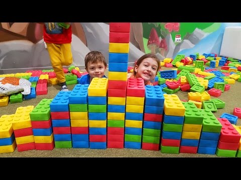 Thumbnail: Indoor playground fun for kids with mega blocks and motorcycle. Video from KIDS TOYS CHANNEL