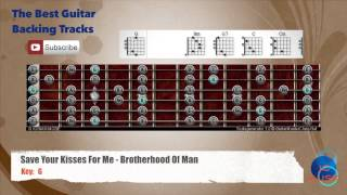 Save Your Kisses For Me - Brotherhood Of Man Guitar Backing Track with scale and chords
