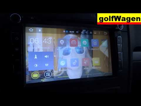2DIN China radio cold start -10°C VW Golf 5 1.9TDI 2008 /2018/ FADED Display