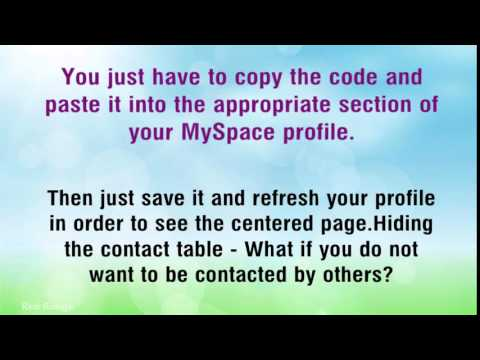 Using Myspace Codes To Improve Your Myspace Page