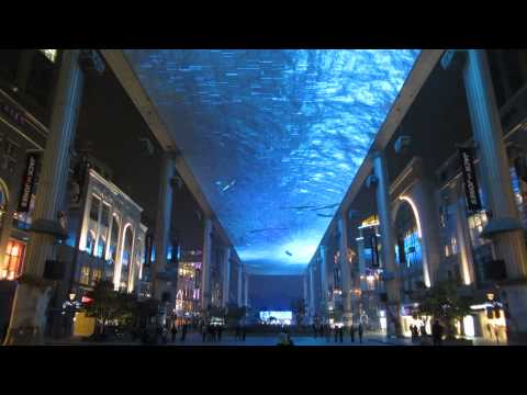 Shopping Mall (The Place) with Amazing LCD Ceiling Video Display - Beijing - Ocober 2012