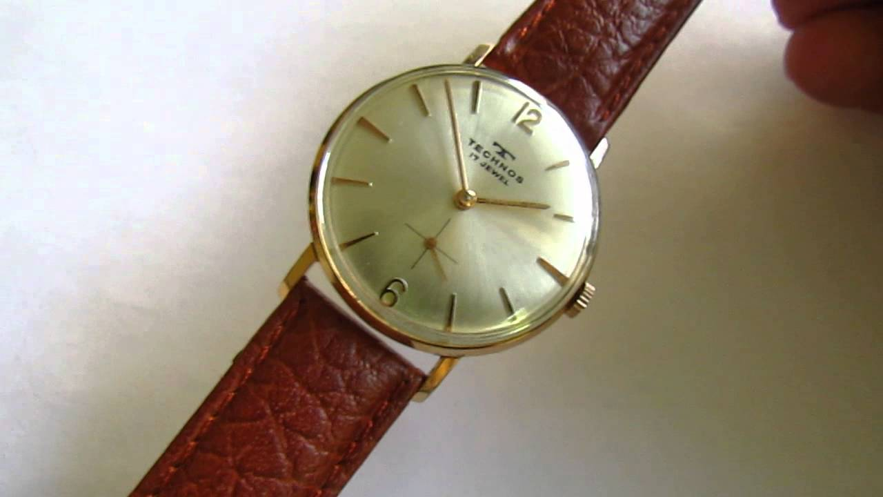 Vintage swiss brand technos wristwatch 1950s youtube for Technos watches