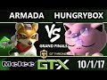 GTX 2017 Melee - [A]rmada (Fox) vs Liquid'Hungrybox (Jigglypuff) - SSBM G.Finals