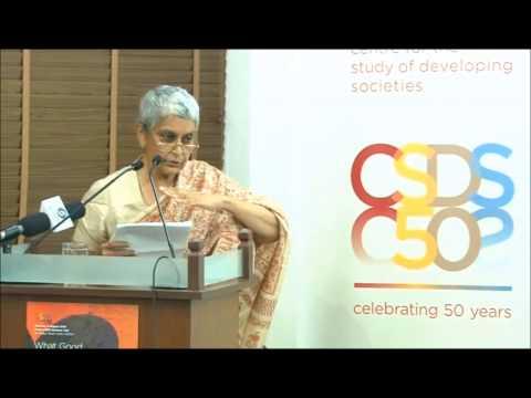Gayatri Chakravorty Spivak at CSDS, Golden Jubilee Lecture