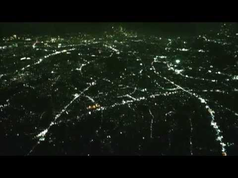 After Sunset Flight ナイトフライト・羽田空港着陸前 2014年10月09日