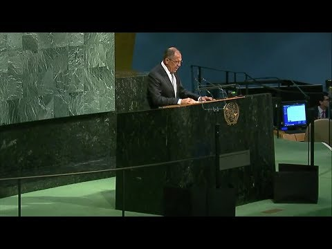 Russian FM Sergey Lavrov addresses UNGA (Streamed live)