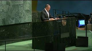 Russian FM Sergey Lavrov addresses UNGA (Streamed live)