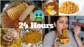 I Ate Only Maggie For 24 Hours Challenge 😰😱 Worst Challenge Ever😭 Sejal Vlogs
