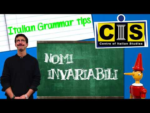 Italian Grammar Tips - Invariable nouns