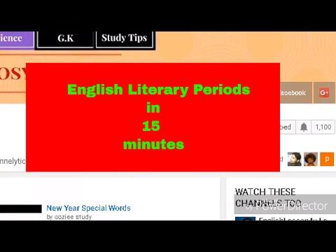 History of English literature in 15 minutes English literature study with Kaushik