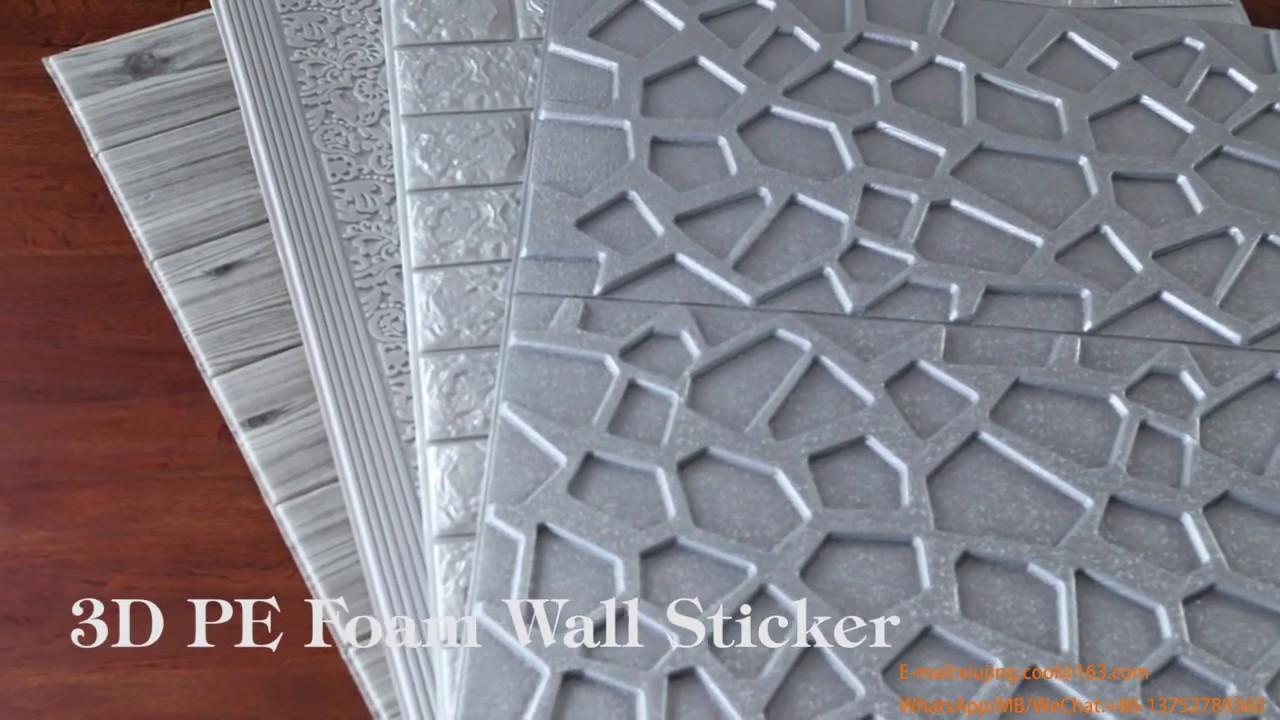 3D PE Foam Brick Wallpaper Sticker Soft Material To Protect Children S Safety DIY Foam Sticker