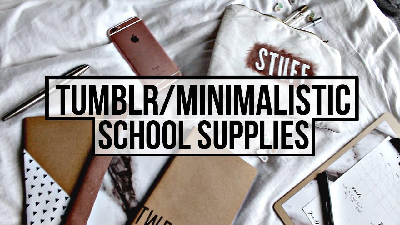 DIY Tumblr/Minimalistic School Supplies! - YouTube