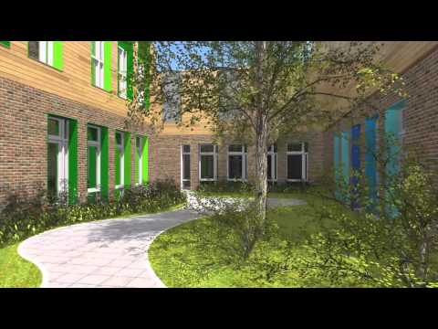 Architectural Animation School Building, Netherlands. By 3D Partners.