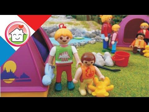 Playmobil en francais  Camping Avec Le Jardin D'enfants La famille Hauser / film pour enfants