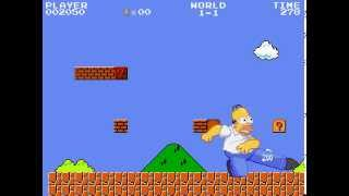 Homer Simpson in the world of Super Mario!